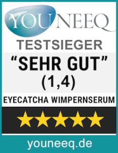 Eyecatcha Wimpernserum Testsieger Testsiegel youneeq